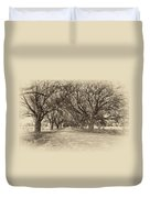 Southern Journey Sepia Duvet Cover