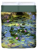 Southern Lily Pond Duvet Cover