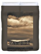 Southern Ocean In Black And White Duvet Cover
