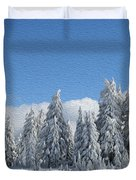 Southern Oregon Forest In Winter Duvet Cover