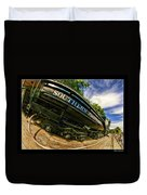 Southern Pacific 2472 Steam Engine 1921 Sunol Station Duvet Cover