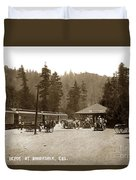 Southern Pacific Depot At Brookdale Santa Cruz Co. Cal. Circa 1910 Duvet Cover