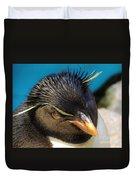 Southern Rock Hopper Penguin Duvet Cover