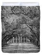 Southern Time Travel Bw Duvet Cover