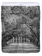 Southern Time Travel Bw Duvet Cover by Steve Harrington