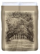 Southern Time Travel Sepia Duvet Cover by Steve Harrington