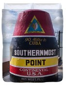 Southernmost Point Marker Duvet Cover