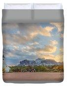 Southwest Sunrise Winter Duvet Cover