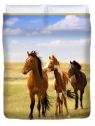 Southwest Wild Horses On Navajo Indian Reservation Duvet Cover