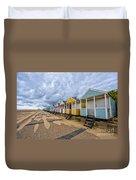 Southwold Beach Huts 4 Duvet Cover