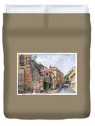 Souvigny Eclectic Architecture In A Village In Central France Duvet Cover