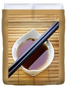 Soy Sauce With Chopsticks Duvet Cover by Elena Elisseeva