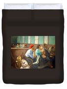 Soyer's A Railroad Station Waiting Room Duvet Cover
