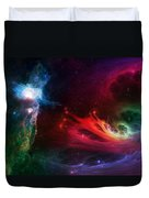 Space Cat Angel - 1 Duvet Cover by Julie Turner