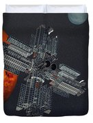 Space Colony Duvet Cover