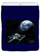 Space Exploration, Earth, Illustration Duvet Cover
