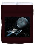 Space Exploration, Moon, Illustration Duvet Cover