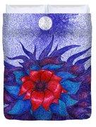 Space Flower Duvet Cover
