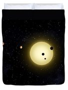 Space Kepler 11 Introduction Duvet Cover