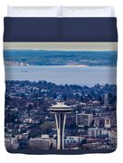 Space Needle 12th Man Seahawks Duvet Cover
