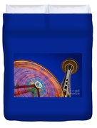 Space Needle And Wheel Duvet Cover