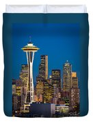 Space Needle Evening Duvet Cover