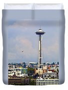 Space Needle Seattle Duvet Cover