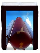 Space Shuttle Fuel Tank And Boosters Duvet Cover