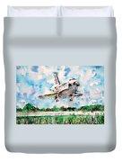 Space Shuttle Landing Duvet Cover