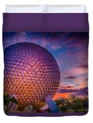 Spaceship Earth Glow Duvet Cover
