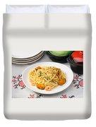 Spaghetti With Sea Food Duvet Cover