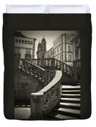 Plaza Stairs In Spain Series 24 Duvet Cover