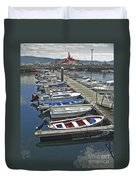 Row Boats In Spain Series 27 Duvet Cover