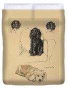 Spaniels, 1930, Illustrations Duvet Cover