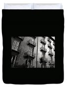 Spanish Balconies - Black And White Duvet Cover