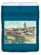 Spanish Church Tower Duvet Cover