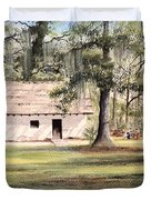 Spanish House Mission San Luis Tallahassee Duvet Cover