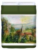 Spanish Landscape Duvet Cover
