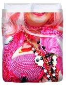 Spanish  Mardi Gras Parade Finery Louisiana Duvet Cover