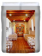 Spanish Mission Church New Mexico Duvet Cover