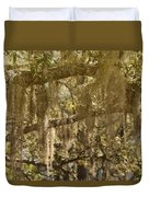 Spanish Moss On Live Oaks Duvet Cover by Christine Till