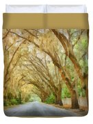 Spanish Moss - Symbol Of The South Duvet Cover by Christine Till