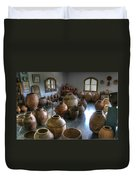 Spanish Pottery Shop Duvet Cover