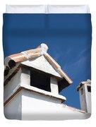 Spanish Rooftops Duvet Cover by Anne Gilbert