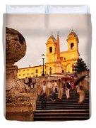 Spanish Steps Duvet Cover