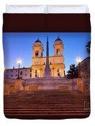 Spanish Steps Dawn Duvet Cover