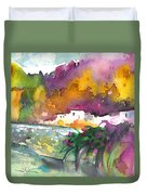 Spanish Village By The River 02 Duvet Cover