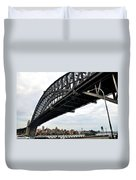 Spanning Sydney Harbour Duvet Cover by Kaye Menner