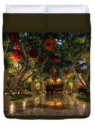 Sparkling Merry Exuberant Decorations Duvet Cover