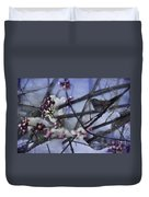 Sparrow And The Beauty Berry Duvet Cover